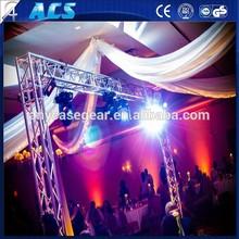 global truss compatible Aluminum roof truss system design,580x1010mm 4 point folding truss, speaker truss for outdoor