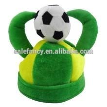 2014 World Cup Brazil Party Velvet Soft Top Hat Cap for Soccer Fans Hat QHAT-2174