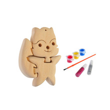 3D wooden craft puzzle fox