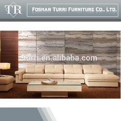 2014 hot sale top grain leather corner sofa for home furniture