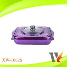 SS410 stainless steel square colorful decorative metal candy plate