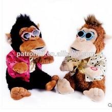 Dancing &Singing monkey electronic plush toy/plush electronic toy stuffed monkey dancing&singing