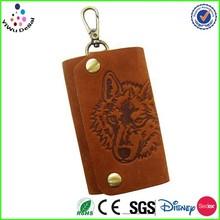 014 Christmas Gift Retro Animal Tiger Lion wolf key wallet key case