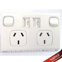 240v 3 pin plug Australia SAA standard power plug