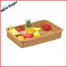 Russia Market PP Material Rectangular Woven Bread Basket