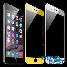 9H 2.5D Premium Colorful frame gold/silver tempered glass screen protector for Iphone6s