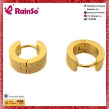 Magnetic Bio Friendship 14k yellow gold round diamond stud earrings