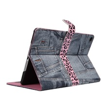 Jean Jacket Case for iPad Tablets Folio Stand Holder for IPAD AIR 2 Cover