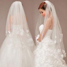 Wholesale bridal veil Marriage gauze wedding veil Multilayer yarn layer 2 petals veil Factory direct sale