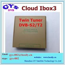 hd combo satellite receiver Cloud Ibox 3 twin tuner DVB-S2+ DVB-T2/C combo receiver+cccam account