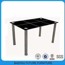 most cheapest black dining table with stainless steel leg