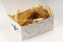 Cardboard Paper Food Grade Chicken&Chips Box