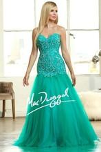 2015 Latest design women/girls dress for prom beaded sweetheart sleeveless princess ball gown prom dresses long RP48210H