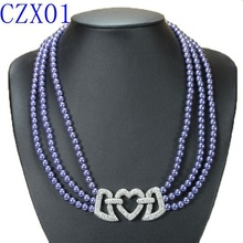 New Arrival Purple color Heart Locked Costume Jewelry 2015