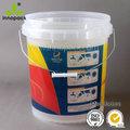 Baldes de plástico com tampa e alça para a embalagem química balde de 5 galões