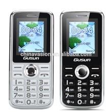 GUSUN F7 Cellular Phone - 1.8 Inch Display, Dual SIM Quad Band Support, Camera, LED Torch (Black/White)