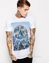 mens sublimation t shirt custom design polyester color block t-shirt mens branded t-shirt