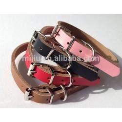 bulk wholesale custom made real leather remote dog training collar