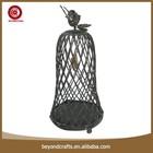 Eco-friendly wrought iron shabby chic bird cage