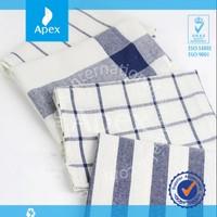 Kitchen Textile Plain White Cotton Tea Towel