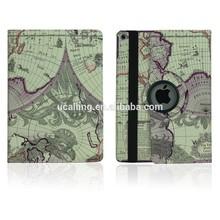 World Map PU Rotation Leather Case For iPad Mini 2 3
