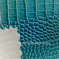 hot sale PVC leather types of bag material/faux leather fabric bag making material