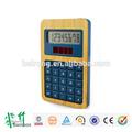 2015 produto de venda quente de bambu solar 8 digt calculadora de alimentação dupla com Anti estático e controle de radiação