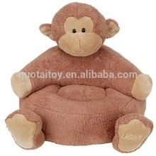 Custom super soft monkey plush baby animal sofa chair