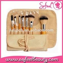 synthetic hair make-up brush kit for christmas gift