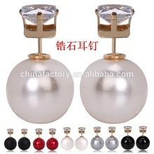 Fashion Hotest Popular Double side Big Pearl jhumka earrings
