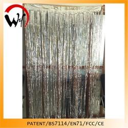 2015 Glitter Effect Silver foil Shiny curtain design 2014