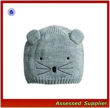 XJ0696/Cute cat eat hat / fashion cat ear knitted hat beanie hat