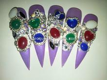 Fashion romantic just gel polish nail art for christmas day