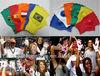 Noisemaker Cheerleading Football Fans Plastic Hand Clapper Glove