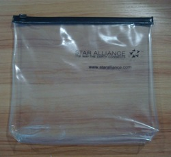 Eco-friendly zipper closure custom design clear PVC pouch with zipper