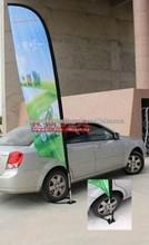 Car beach flag pole
