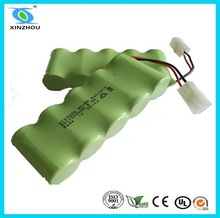 Flat top or point top nimh sub c 1.2v battery