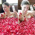 自然乾燥させたバラの花びら、 で乾燥したバラあなたの美肌のための粉