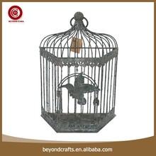 Shabby chic decorative iron sing bird cage