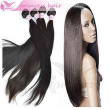 natural color silky straight wave hair weft 100% virgin brazilian hair weaving