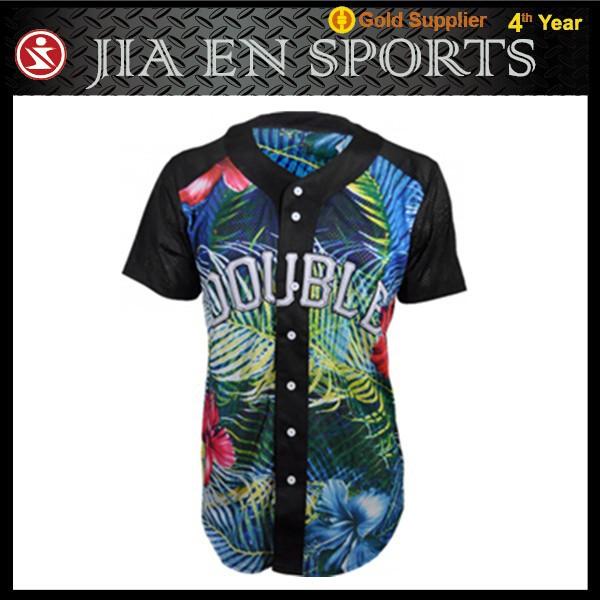 Baseball Jersey no Buttons Button up Baseball Jerseys Oem