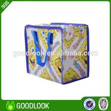 lamination bag convenient green woven ziplock packing bag