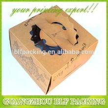 (BLF-PBO318) kraft paper 175g 180g 250g 280g 350g 365g 450g matt lamination,PVC window, paper handle to kraft paper cake box