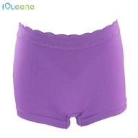 Plain dyed breathable homochromy and elastic girls knickers