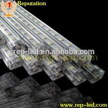 12v/24v Aluminum profile portable LED Rigid Bar 5050 72led/m 16watt IP33 non waterproof for under cabinet display illumination