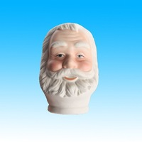 small porcelain santa heads