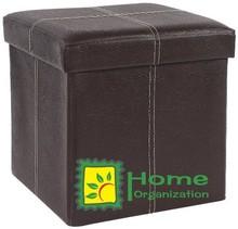 good quality square PVC Storage Ottoman