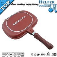 Brand new product 32cm happy call double sided grill pan korea grill pan with non stick coating