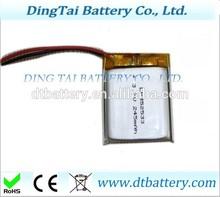 352533 Digital watch battery rechargeable li ion polymer batteries 3.7V 245mah