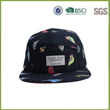 2015 hot sale custom design 5 panel snapback cap